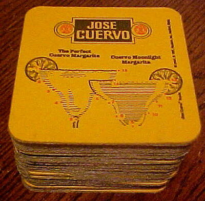 Vintage 1970-1980 Lot Of 59 Jose Cuervo Margarita Heavy Cardboard Coasters