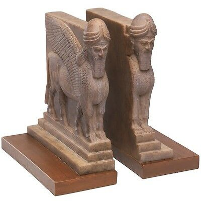 Assyrian Empire Palace Winged Guard Bookends Reproduction
