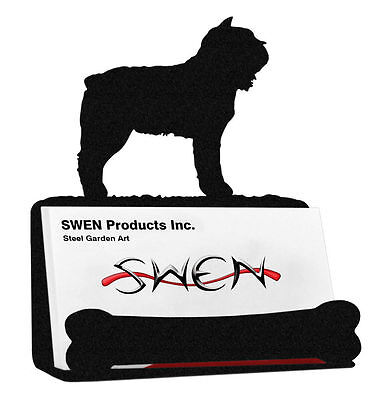 SWEN Products BOUVIER DES FLANDRES Dog Black Metal Business Card Holder