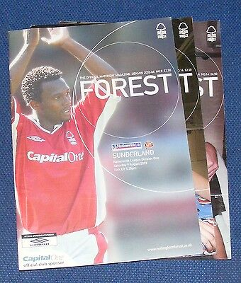 Nottingham Forest Home Programmes 2003-2004