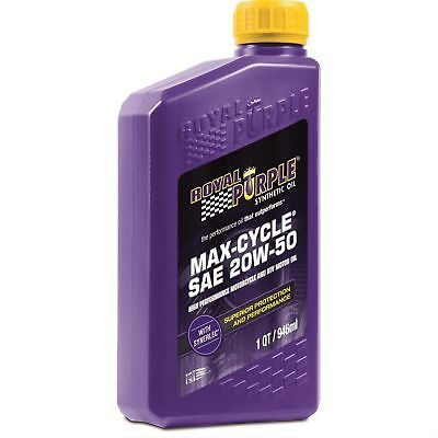 Royal Purple 01316 20W-50 Max Cycle Synthetic Motorcyle Oil - 12 Pack