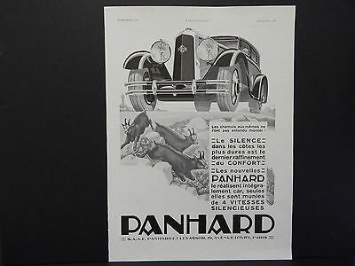 French Automobile Ads, Vintage c.1929 Panhard