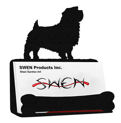 SWEN Products NORFOLK TERRIER Dog Black Metal Business Card Holder