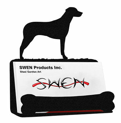 SWEN Products RHODESIAN RIDGEBACK Dog Black Metal Business Card Holder
