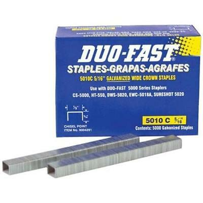 Duo-Fast 5010C - 5/16-Inch x 20 Gauge Chisel Staples New