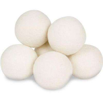 Wool Dryer Balls by Smart Sheep 6-Pack, XL Premium Reusable Natural Fabric New