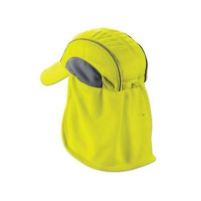 Ergodyne 6650 High Performance Baseball Style Hat with Neck Shade, Lime New