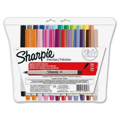 Sharpie Permanent Markers, Ultra Fine Point, Assorted Colors, 24-Count New