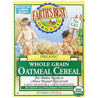 Earth's Best Organic, Whole Grain Oatmeal Cereal, 8 Ounce (Pack of 12) New