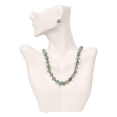 Necklace and Earring Bust Jewelry Display - White New