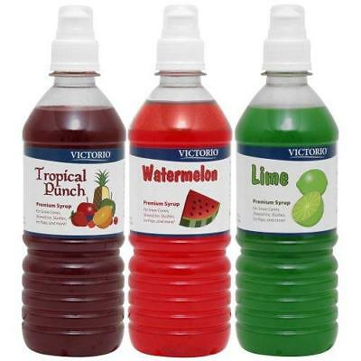 Time for Treats Tropical Punch, Watermelon and Lime Snow Cone Syrup 3-Pack by