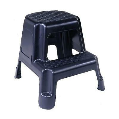 Cosco 11-911BLK Two-Step Molded Step Stool, Black New