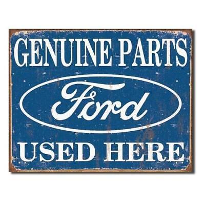 Tin Sign Ford Parts , 16x13 New
