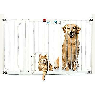 Carlson Extra Wide Pet Gate, with small pet door New