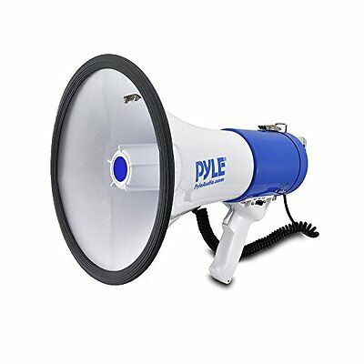 Pyle Megaphone Speaker | Bullhorn PA Speaker System | Wired Microphone | New