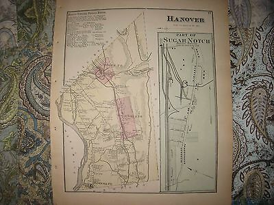 Antique Hanover Township Nanticoke Sugar Notch Luzerne County Pennsylvania Map N