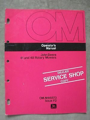 John Deere 39 47 Mower Operators manual 110 112 Lawn tractor