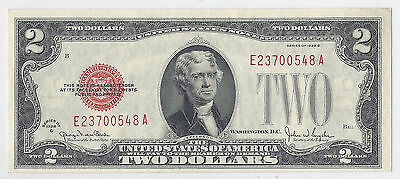 US Note - 1928G $2 Two Dollars - Red Seal - Uncirculated, Bright + Sharp*