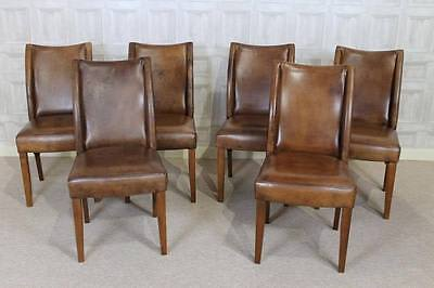 Antique Style Brown Tan Leather Dining Chair Vintage Style Wetherby