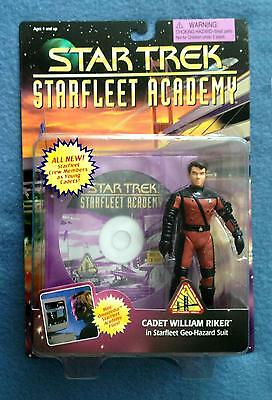 Star Trek TNG Cadet William Riker Starfleet Academy Figure Playmates MOC 1996