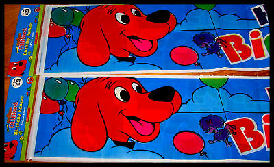 Bulk Lot 24 Clifford Big Red Dog Party Banner Wholesale