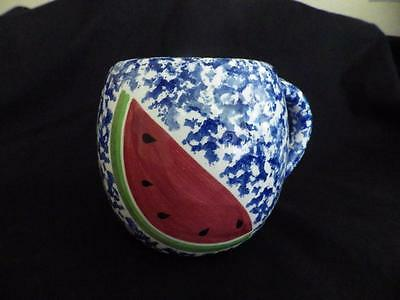 WCL Pottery Watermelon Large Mug Blue Sponge
