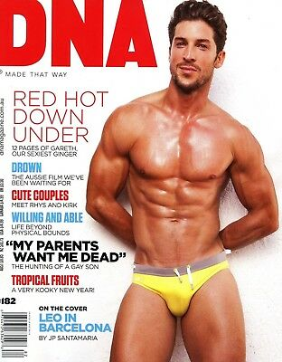 DNA Magazine #182 gay men CARSON NICELY GARETH WIECKO LEO RICO