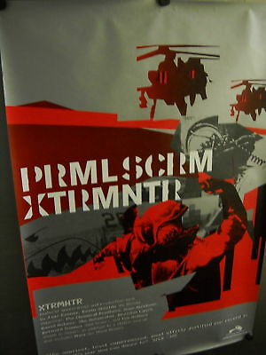 PRIMAL SCREAM XTRMNTR Large PROMO POSTER perf.condition