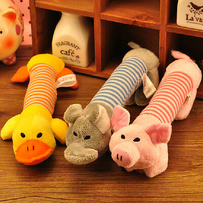 Pet Puppy Chew Squeaker Squeaky Plush Sound Pig Elephant Duck For Dog Sound Toys