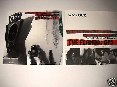 FLAMING LIPS 2-sided PROMO DECORATOR FLAT from 1993