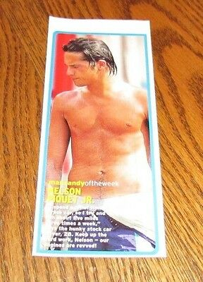 Shirtless NELSON PIQUET JR 3X7 PINUP Clipping Male Stock Car Driver Chest Abs