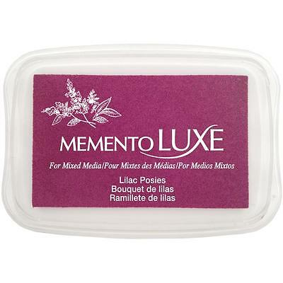 Tsukineko - Memento Luxe Mixed Media Ink Pad - LILAC POSIES