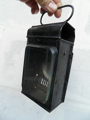 Vintage lamp ancienne lampe lanterne chemin de fer train gare