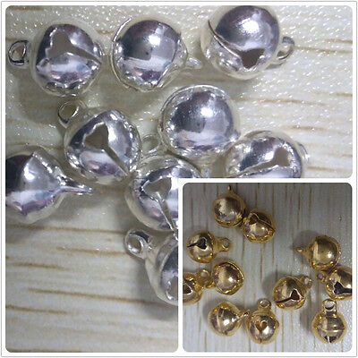 50pcs silver gold plated copper SMALL bells fit charms bracelet necklace pendant