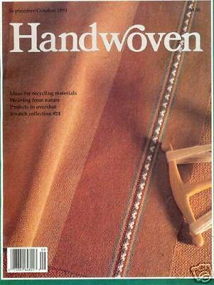 Handwoven magazine sept/oct 1991: recycled weaving!!