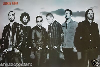 "Linkin Park ""group Standing Together, Chester Looking Down"" Poster From Asia"