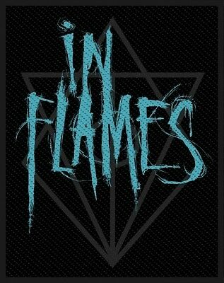 IN FLAMES - Patch Aufnäher - Scratched logo 8x10cm