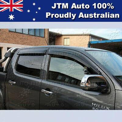 QUALITY Weather shield Window Visors weathershields to suit Toyota Hilux 05-15
