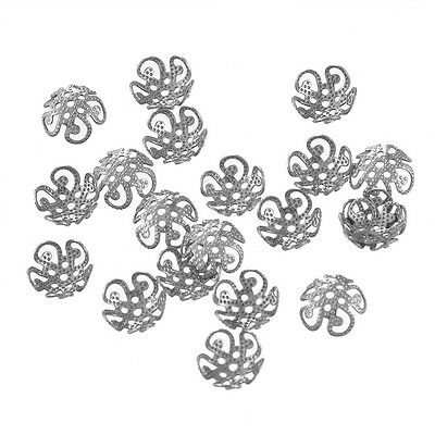 20PCs Stainless Steel Bead Caps Jewelry Findings Makings
