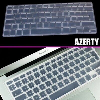 Pour MacBook Pro Retina Air 13 15 17 pouces AZERTY Protection Clavier Silicone T
