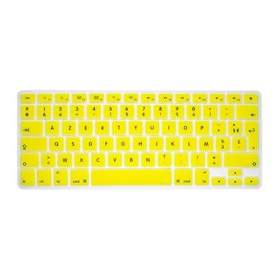 "Pour MacBook Pro Retina Air 13 15"" 17"" AZERTY Protection Clavier Silicone Jaune"