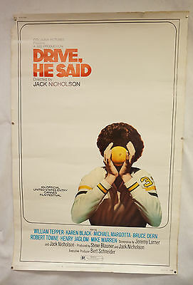 Drive, He Said Original Movie Poster 1971 Bruce Dern
