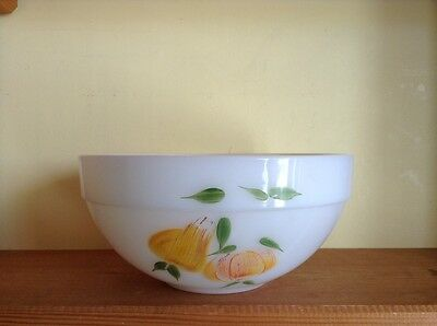 "Vintage Fire King Gay Fad 8 3/4"" mixing bowl"