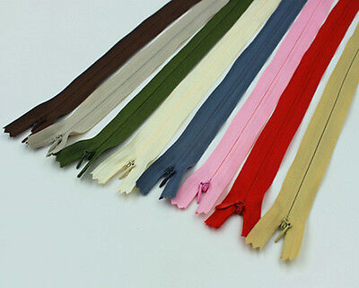 10 Colors DIY NO.3 Invisible Zipper for purse or bags manufacture 28 40 50 60 CM