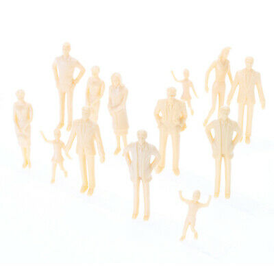 20X Unpainted Model Train Stand-Up People Adults Kids Figures 1:30 DIY Paint New
