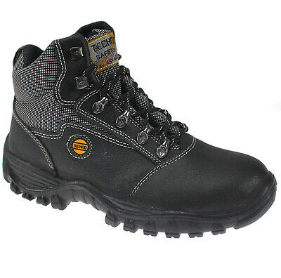 Mens Leather Safety Boots Ultra Light Weight Steel Toe Cap Trainers Work Shoes