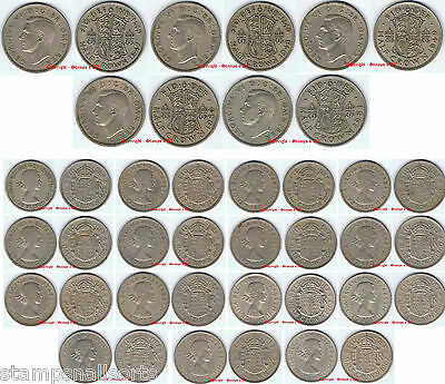 Half Crown 2s6d 2/6d 1947 to 1967 Choose - supplied in coin wallet