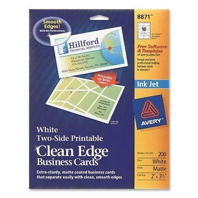 Avery Two-Side Printable Clean Edge Business Cards for Inkjet Printers, Matte,