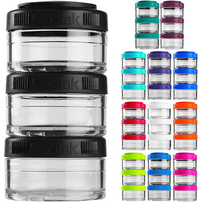 Blender Bottle GoStak 60cc 3Pak Twist n' Lock Storage Jars