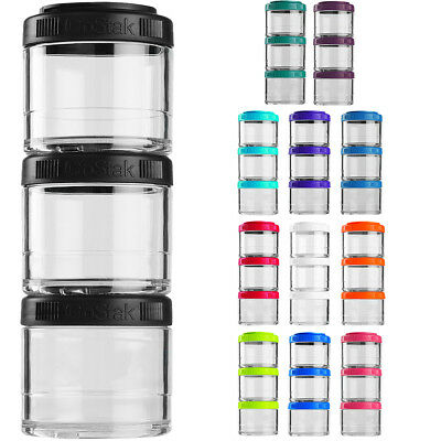 Blender Bottle GoStak 100cc 3Pak Twist n' Lock Storage Jars